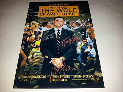 """The Wolf Of Wall Street Pp Signed 12""""x8"""" Poster Leonardo Dicaprio Jonah Hill"""