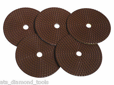 "125mm (5"") ATS Copper Bonded Diamond Polishing pads granite marble concrete"