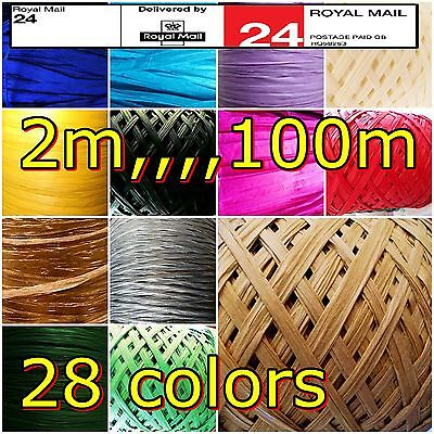 Raffia Paper Ribbon All Colorus for decorating flowers gifts crafts scrapbooks &