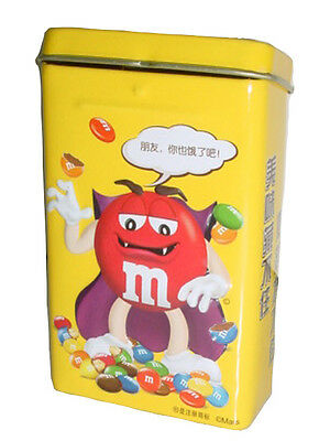 NEW M&M'S M&M CANDY CHOCOLATE RED EMPTY TIN BOX (Width 6 cm x Length 9 cm)