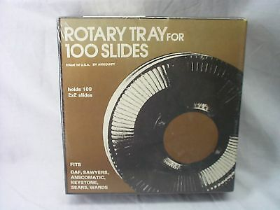"""Vintage Airequipt Rotary Tray,100 Slides,2""""x2"""",swayers,anscomatic,keystone,sears"""