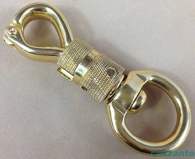 Solid Brass Heavy duty Panic quick release swivel eye Hook Clip horse gear