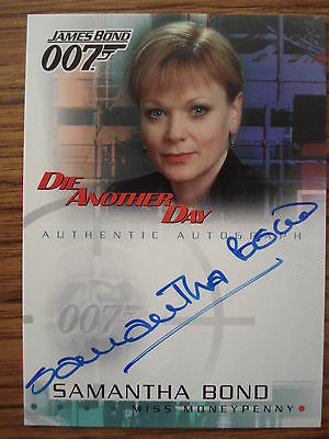 James Bond - Die Another Day: Autograph Card: Samantha Bond As Miss Moneypenny
