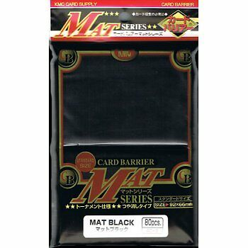 KMC Matte Black Sleeves (80) MTG / POKEMON/ WOW