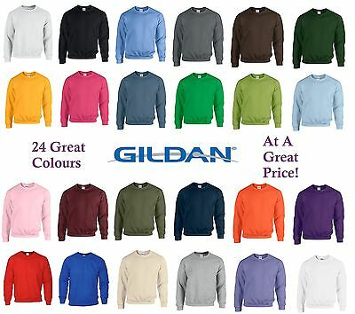 New Gildan Heavy Blend Adult Crew Neck Pullover Sweatshirt Sweater