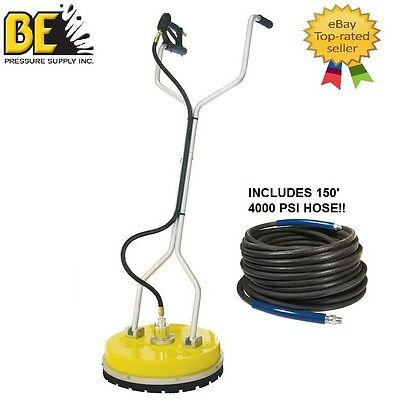 Be Pressure Whirl-A-Way 20'' Flat Surface Cleaner-Washer + 150' Pressure Hose