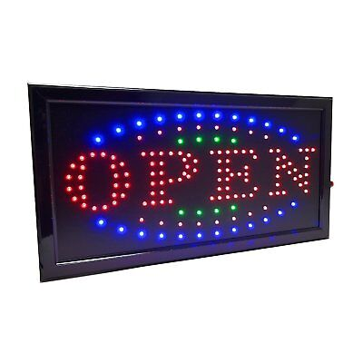 3 Color High Visible LED Neon Light Business Motion Open Sign Chain Switch