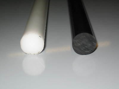 Plastic Acetal Round Bar Rod Black White Natural Not Delrin or Nylon