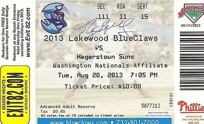 Roy Halladay signed blueclaws rehab ticket phillies autographed auto blue jays