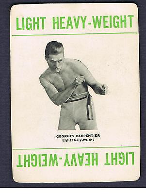 1923 Very Rare Boxing Card World Champion George Carpentier Boxer Olympia Old