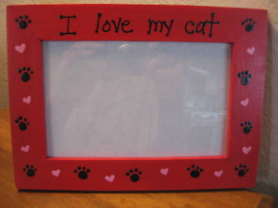 Personalized I Love My Cat Pet Photo Picture Frame 1495