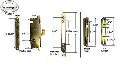 Sliding Patio Door Mortise Lock Keeper Kit For New Installation Or