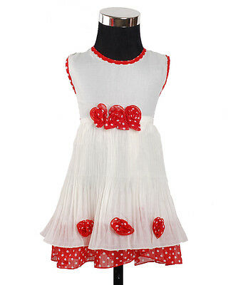 New Baby Girls Party Dress in Red,Blue From 3-6 to 12-18 Months