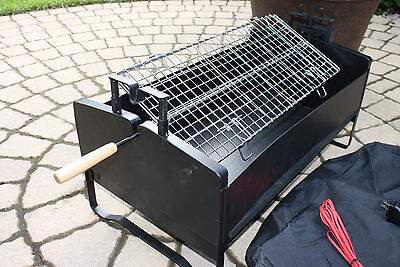 Electric Rotating Barbecue BBQ Rotisserie Charcoal Grill  Steak Chiken 12-120v