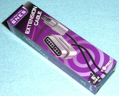New 6 Foot Controller Cord Extension for SNES Super Nintendo -- 6' Ft. Cable