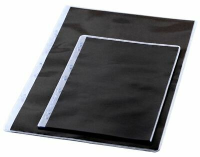 GraphicPro A2 Portfolio sleeves Pack of 10 Protective Black PVC NEW GDSA2A