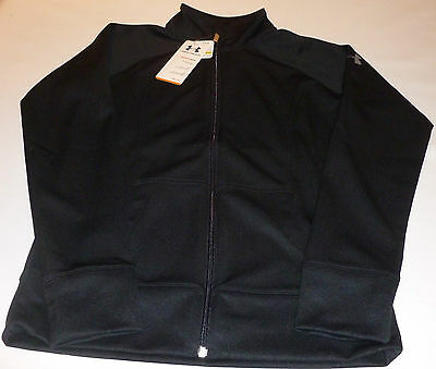 Under Armour Ladies Woven Craze Exercise/fitness Jacket-Black-Small-Size 10