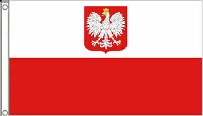 HUGE 8ft x 5ft Poland Eagle Flag Polish State Crest Massive Giant Extra Large