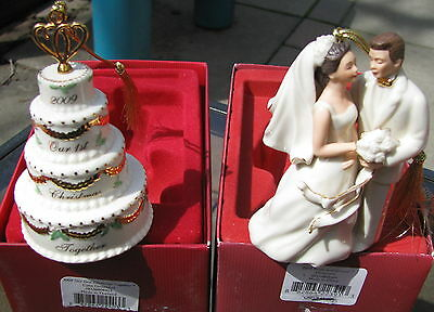 Lenox 2008 Wedding Ornaments Set