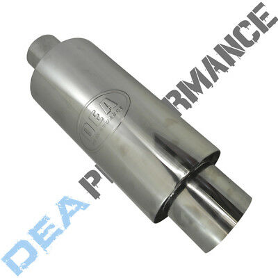 """Stainless Steel Sports Cannon Muffler - Universal Fitment - Wlm96 - 3"""" Inlet"""