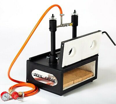"""DFHS2 + 2D 3.6"""" GAS PROPANE FORGE For Horse Shoes Makers, Farriers, Blacksmiths"""