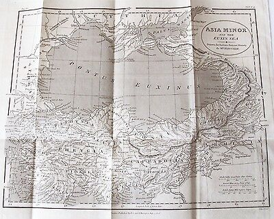 OLD ANTIQUE MAP ASIA MINOR by D'ANVILLE c1808 EUXIN SEA 19th CENTURY ENGRAVING