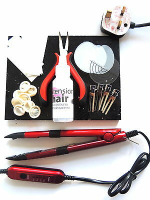 Hot Fusion Heat Connector Kit For App+Removal Of Pre-Bonded Hair Extensions