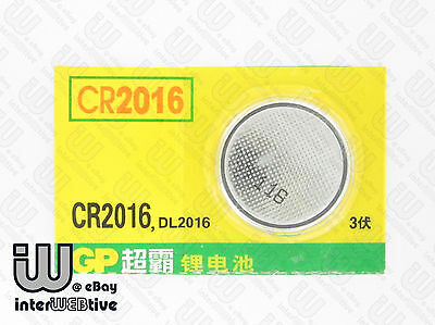 2 Pieces GP CR2016 CR 2016 DL2016 Computer Motherboard Coin Cell Battery 3V