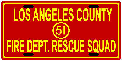 Emergency 51 1970's TV show License Plate