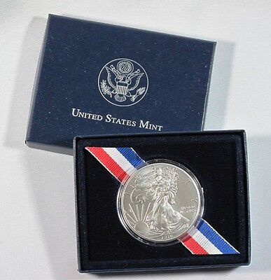 2014 American Silver Eagle Walking Liberty 1oz Coin in US Mint Box