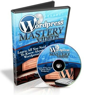 Make Money with 60 WORDPRESS MASTERY Step by Step Video Tutorials on CD + MRR