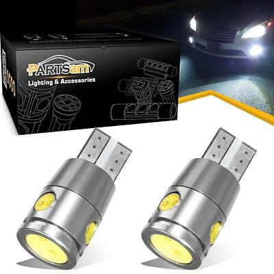 2x White LED Backup / Reverse Light Bulbs Error Free Cree Chip High Power