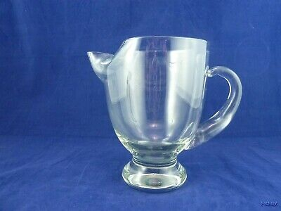 Clear Glass Ice Lip Water Pitcher Open Handle