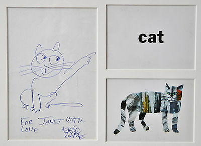 FRAMED ORIGINAL PEN & INK ERIC CARLE DRAWING~auth.of The Very Hungry Caterpillar
