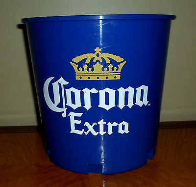 CORONA EXTRA  BEER ICE SNACK BLUE 2 PLASTIC BUCKET PARTY COOLER COLLECTIBLE BAR
