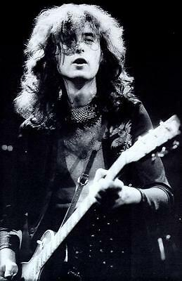 Led Zeppelin Jimmy Page Gibson Les Paul Guitar Live Concert Photo Poster Print