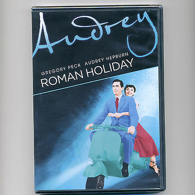 Roman Holiday 1953 romantic comedy movie, new DVD Gregory Peck, Audrey Hepburn