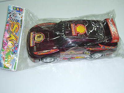 90's Vintage Friction Powered Plastic Racing Toy Car Mic