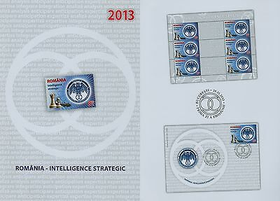 Rumänien 2013 Geheimdienst,Emblem,Chess,Intelligence Strategic Mi.6761,Zf,KB,FDC