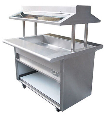 "L&J 84"" Electric S/S Buffet Steam Table W/ Sneeze Guard 6 Pans 1 Element EBT-84"