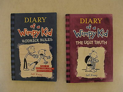 Diary of a Wimpy Kid 2 Paperback Books by Jeff  Kinney Ugly Truth Rodrick Rules