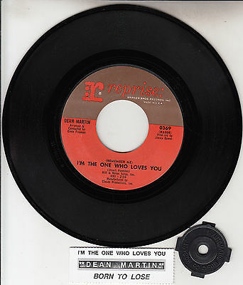 DEAN MARTIN  (Remember Me) I'm The One Who Loves You 45 record + juke box strip