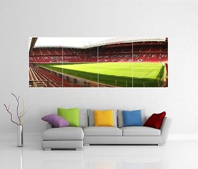 Manchester United Old Trafford Man Mufc Giant Wall Art Picture Photo Poster J47