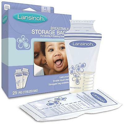 Lansinoh Milk Storage Bags - 25 or 50 Packs - Best Price Around