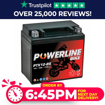 Powerline YTX12-BS YTX12BS Motorcycle Battery Suzuki GSF 1200 97-05