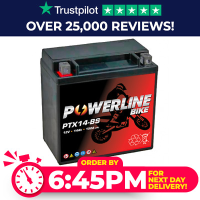 BMW F650GS Gel Upgrade Battery (Replaces YTX14-BS, CTX14-BS, DTX14-BS)