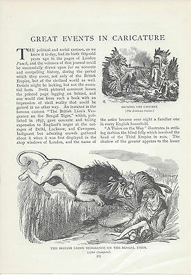 1900  Historical Campaign & Great Events in Caricature vintage magazine article