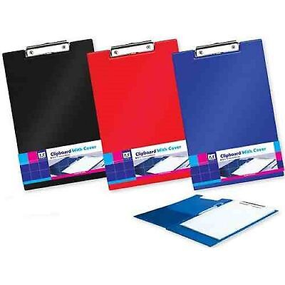 Foolscap CLIP BOARD A4 Size with Pen Holder Office School Fold Over Clipboards