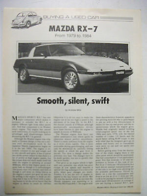 Mazda Rx-7 1979 To 1984 Secondhand Car Buying Guide