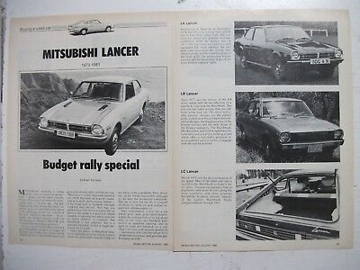 Mitsubishi Lancer 1973 To 1981 Secondhand Car Buying Guide